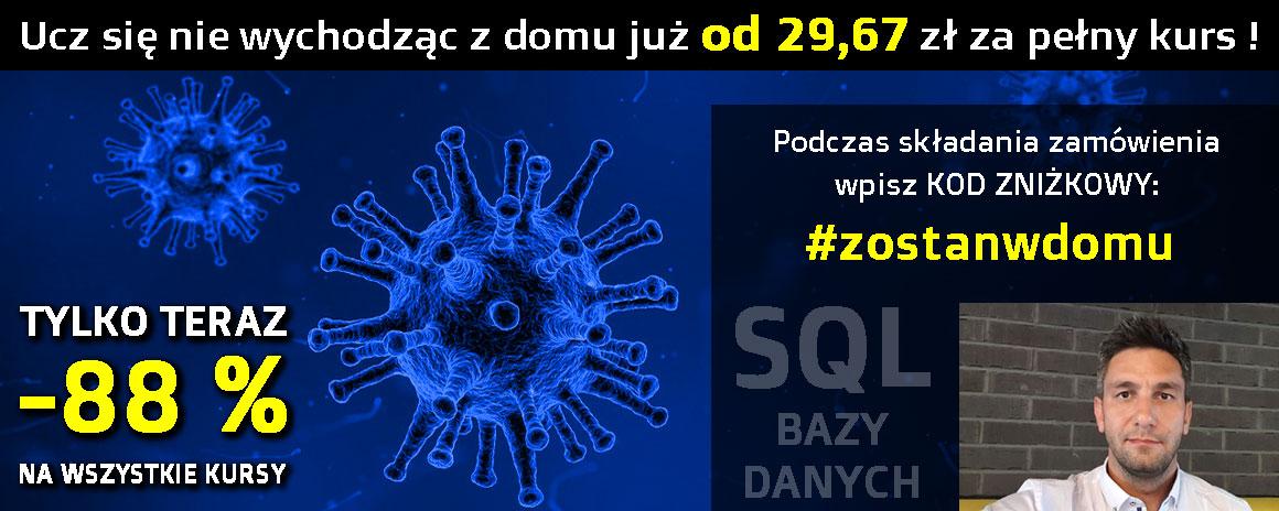 SQL T-SQL Bazy Danych Darmowe Kursy Online Microsoft Server